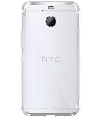 Plus Ultra Clear Slim Shockproof Anti-Slip Grip Soft Transparent Back Cover Case for HTC 10 evo