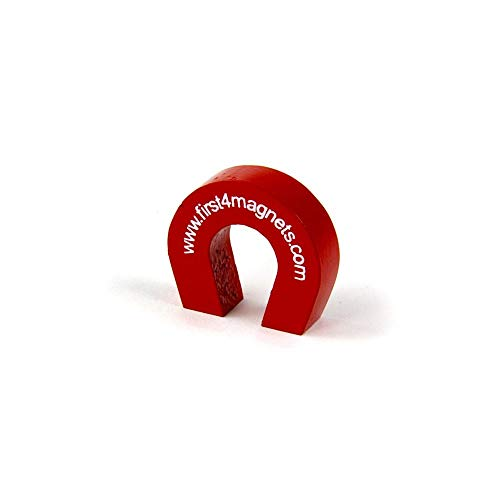 First4magnets F4M802-1 Pocket-Größe rot Alnico Hufeisen Magnet - 1,5 kg ziehen (25,4 x 28,5 x 8 mm) (1 Packung), silver, 25 x 10 x 3 cm