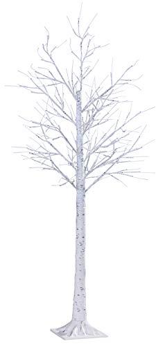 Northpoint LED Lichtbaum für Indoor & Outdoor | Birkenoptik | 150cm | 156 warmweiße LEDs | inkl. Timer
