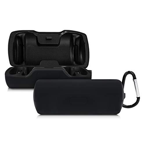 kwmobile Carcasa de Silicona Compatible con Bose SoundSport Free - Funda para Auriculares en Negro