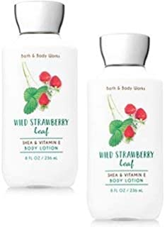 Bath and Body Works 2 Pack Wild Strawberry Leaf Body Lotion.8 Oz