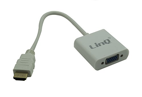 CAVO ADATTATORE CONVERTITORE HDMI A VGA PER PC NOTEBOOK LINQ HDMI-VGA25
