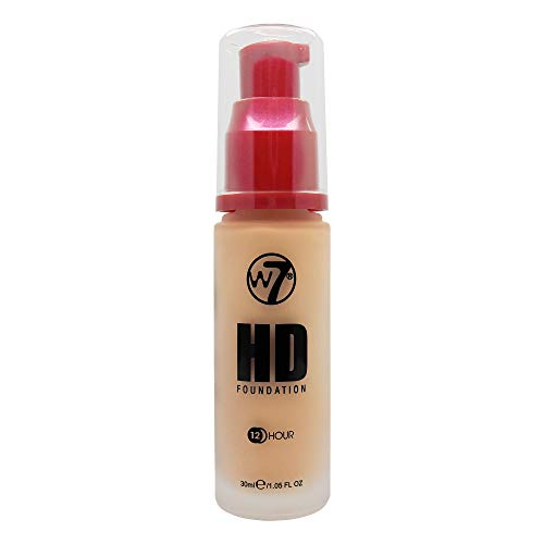 W7 | Foundation | HD Foundation - Fresh Beige | Light to Medium Coverage, Lightweight and Long Lasting