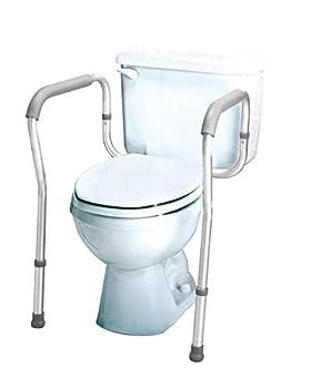 Carex Toilet Safety Rails - Toilet Safety Frame For Elderly Handicap or Disabled - Toilet Rails For Home Use