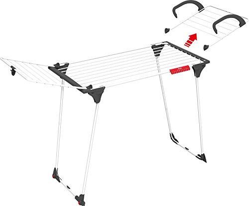 Vileda Premium 2in1 Tendedero Mesa de Acero y Aluminio, Dimensiones abiertas (LxPxA): 180 x 57 x 91 cm