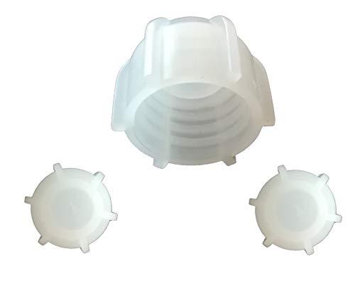 Kartuschenverschlusskappe 3 STÜCK Verschlusskappe für Kartuschen, Kartuschenverschluss mit Grobgewinde Schraubkappe Silikon Kartusche wiederverwenden und sicher verschließen Kartusche zumachen