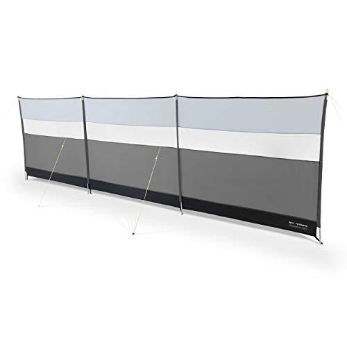Kampa mit Stahl Pfosten Windschutz mit View Panel–Wahl der Farben grau grau