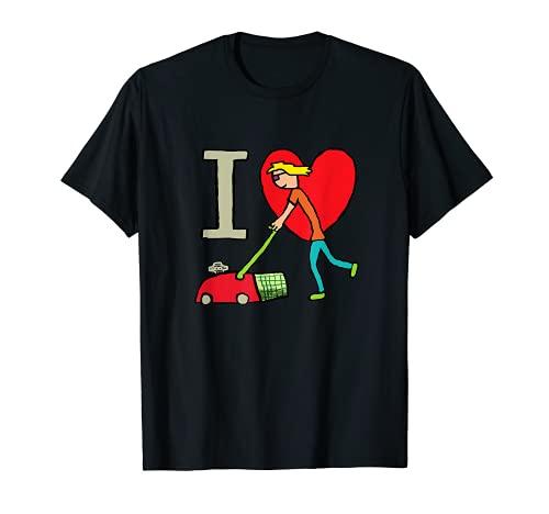 I Love Lawn Mähen. T-Shirt