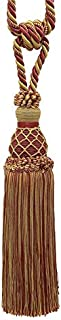 DÉCOPRO Elegant Burgundy Red, Gold Curtain & Drapery Tassel Tieback / 10 inch Tassel, 30 1/2 inch Spread (Embrace), 3/8 inch Cord, Imperial II Collection Style# TBIN-1 Color: Burgundy Gold - 1253