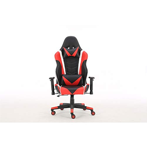 Gaming Chair Office Chair Ergonomic Reclining Padded armrests Height Adjustable with Headrest and Lumbar Pillow E-Sports Chair (Red) chair gaming red