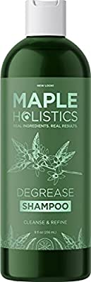 Degrease Shampoo for Oily Hair Care - Clarifying Shampoo for Oily Hair and Oily Scalp Care - Deep Cleansing Shampoo for Greasy Hair and Scalp Cleanser for Build Up with Natural Essential Oils for Hair from Maple Holistics