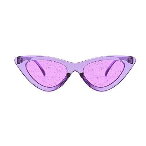Gafas de sol vintage Transwen, gafas de sol de ojos de gato, retro, con montura pequeña, unisex, para viajes, gafas de sol