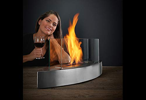 Sharper Image Tabletop Fireplace - Stainless Steel