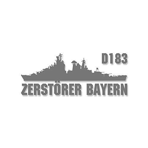 Aufkleber Zerstörer Bayern D183 Bundes Marine Schiff 15x6cm #A4655