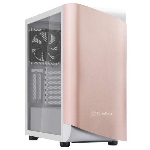 Silverstone Technology SETA A1 Rose Gold on White Premium ATX/Micro-ATX Case with Temperd Glass - SEA1GW-G