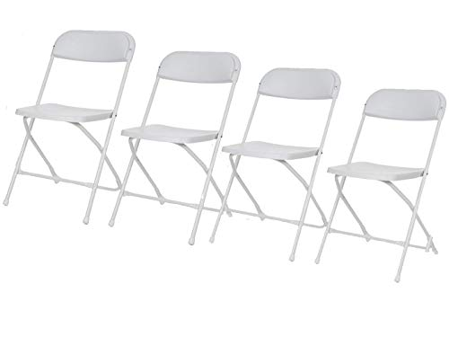 Onbekend robuuste klapstoelenset, wit, opvouwbare stoelen, campingstoelen, terrasmeubelen Toolland