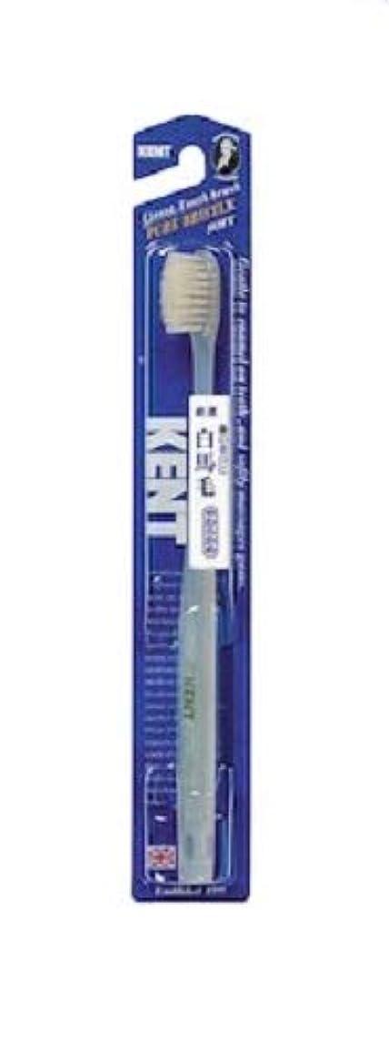 任命押し下げるペルーKENT 白馬毛歯ブラシ やわらかめ コンパクトヘッド KNT-1132