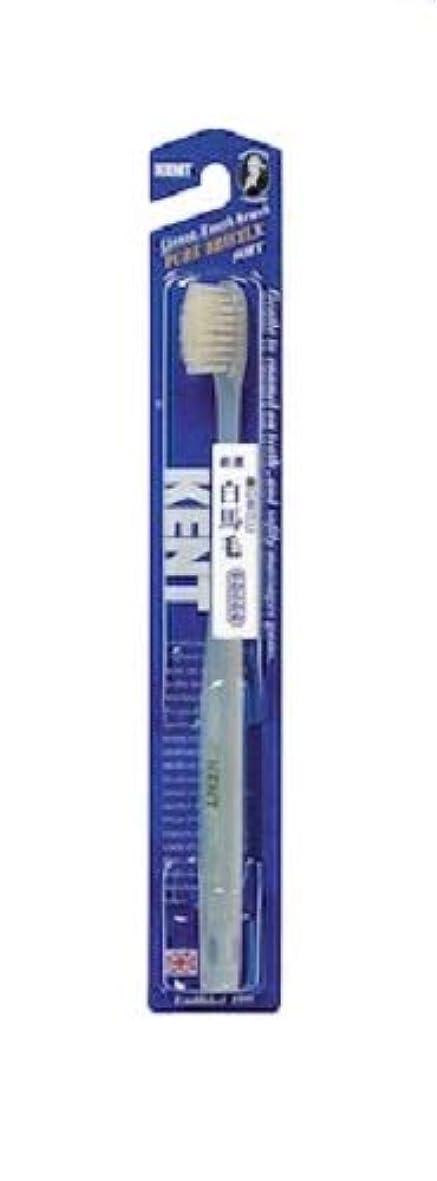 餌中毒へこみKENT 白馬毛歯ブラシ やわらかめ コンパクトヘッド KNT-1132