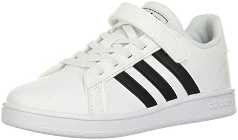 adidas unisex child Grand Court Kids Sneaker White Black White 3 5 Big Kid US product image