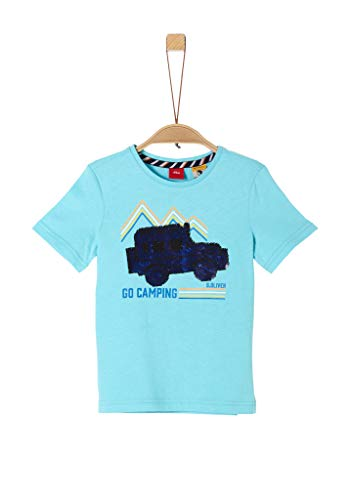 s.Oliver Junior Jungen 404.10.004.12.130.2038136 T-Shirt, Blau (6224 türkisblau), 116/122 REG