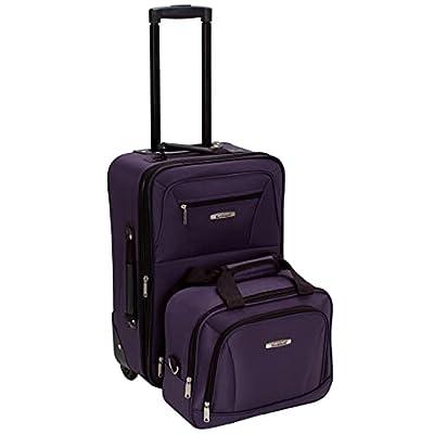 Rockland Luggage 2 Piece Set, Purple, One Size