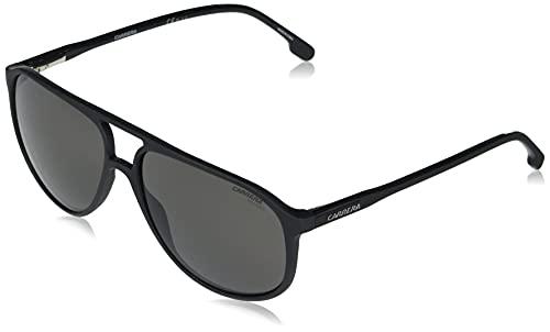Carrera Men's 257/S Pilot Sunglasses, Black/Polarized Gray, 60mm, 15mm