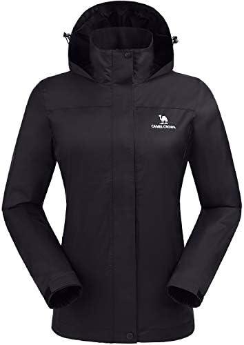 CAMEL CROWN Womens Waterproof Rain Jacket Lightweight Hooded Windbreaker Windproof Rain Coat product image