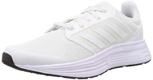 adidas Galaxy 5, Running Shoe Hombre, Footwear White/Footwear White/Core Black, 42 2/3 EU