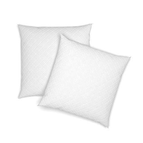VitaliSpa 2er Set Microfaser Kopfkissen Allergiker geeignet Kissen weiß 3 Größen (80 x 80 cm)