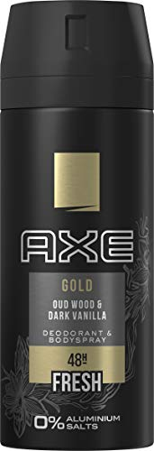 Axe Deospray Gold ohne Aluminiumsalze, 150 ml, 3er Pack (3 x 150 ml)