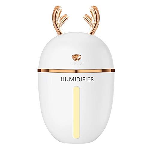 INGHU Luftbefeuchter Luftreiniger Home Desktop B Öl Ätherisches AMA Nachtlicht Stumm Bü Wiederaufladbare rschform Mini Elektrische Tragbare Diffusor(Weiß)