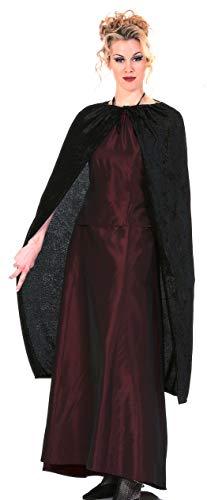 Rubie's Velvet Cape 3/4 Length Black, Black, One Size