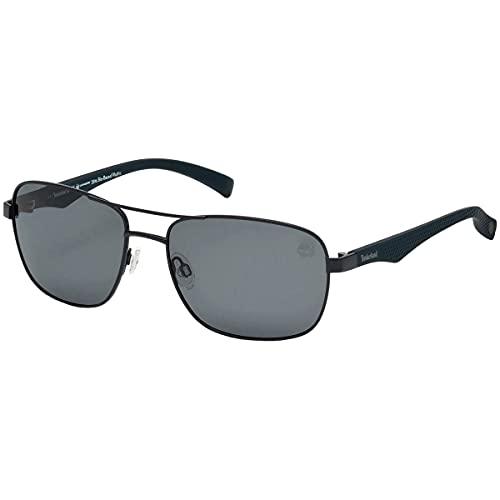 Sunglasses Timberland TB 9136 91D matte blue/smoke polarized