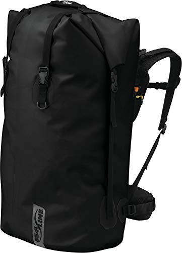 SealLine Black Canyon Waterproof Dry Pack with Waist Belt Support, Black, 65-Liter