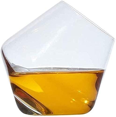 YHQKJ Vasos de Whisky Decantador de Whisky Decantador de vinos, Vidrio Creativo de Cristal sin Plomo, Taza de batido de Copa de Vino Tinto, Separador de Botellas de la casa 250ml