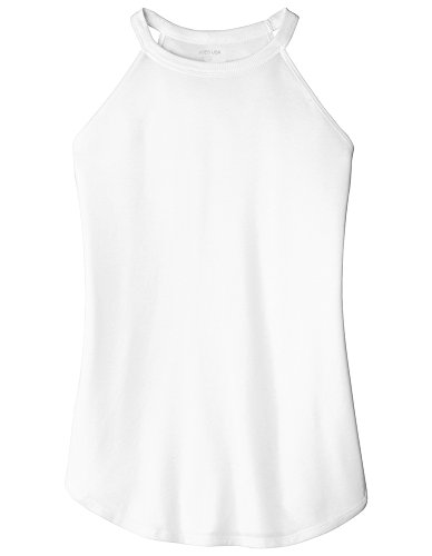 Joe's USA Ladies Perfect Blend Rocker Tank-L-White