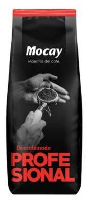 Mocay caffè - Etiqueta Roja PROFESSIONAL - café en grano Natural Descafeinado -1 kg