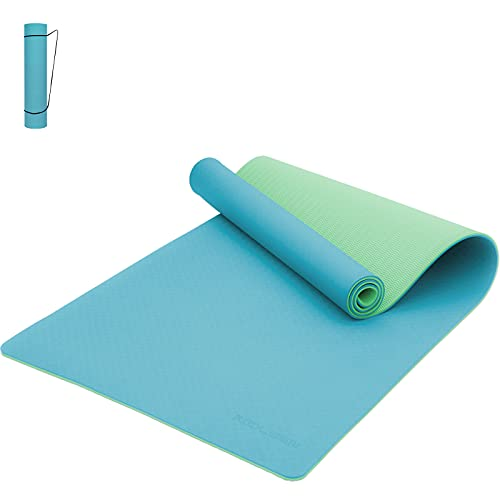 KOOLSEN Yoga Mat Non Slip, 8mm Thick TPE Eco Friendly Fitness Exercise Mat with Carrying Strap,Pro Yoga Mats for Women,Workout Mats for Home, Pilates and Floor Exercises