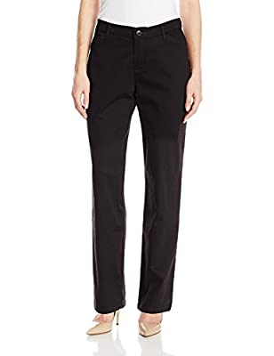 LEE Women's Relaxed Fit All Day Straight Leg Pant, 6, Black