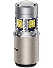 Ruiandsion BA20D LED Lamp Wit/Geel 6V-30V Super Heldere 3030 22SMD Chipsets LED Lamp voor Motorbike Motorfiets Koplamp