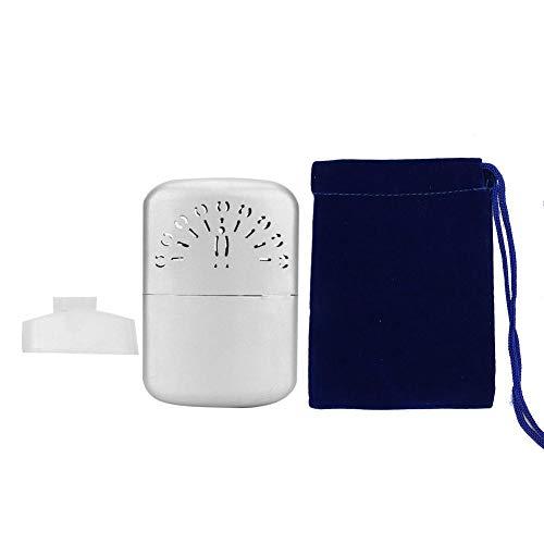 Scaldamani portatile,con sacchetto isolante scaldamani modello argento pavone scaldamani tascabile a tasca invernale adatto a tutti i tipi di persone che vivono,studiano e lavorano freddi