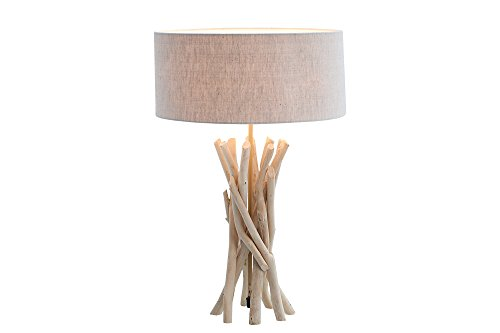 DuNord Design Tischlampe Treibholz Tischleuchte DRIFTWOOD 62cm sand Design Schwemmholz Lampe
