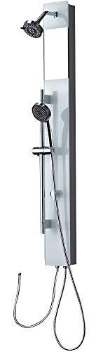 Glas Duschpaneel mit Regendusche und weißem Glas für Brauseanschluß Sanlingo