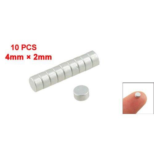 Sonline-Silber-Ton 4 mm x 2 mm Seltene Erden Neodym-Magnet Starke 10 Stueck