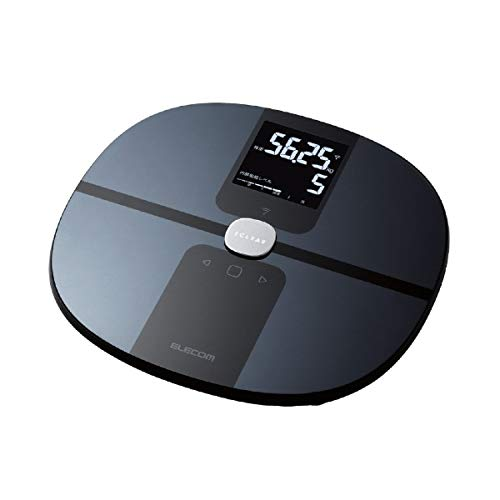 エレコム 体重・体組成計 スマホアプリ連動 iOSヘルスケア対応 Wi-Fi接続 50g単位 乗るだけ 面倒な毎回のデータ転送操作不要 変化が分かるグラフ表示 「エクリア 体組成計」 ブラック HCS-WFS01BK