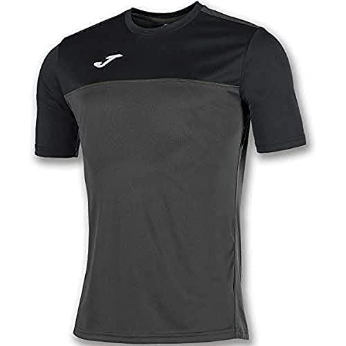 Joma Winner Camisetas Equip. M/C, Hombre, Antracita Negro