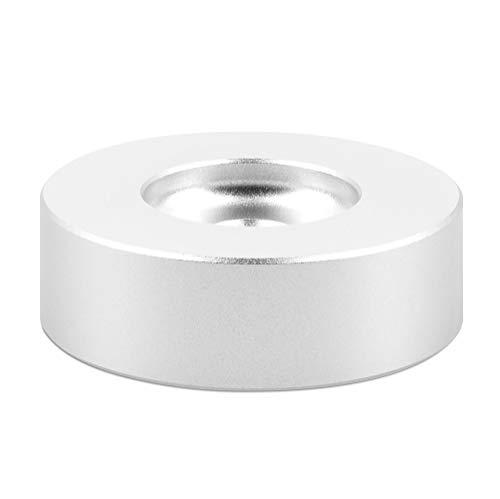 """kwmobile Adattatore 45 Giri in Lega di Alluminio - Puck Universale per Giradischi Dischi Vinile 7 """" - Vinyl Record Adapter 45-RPM Standard - Argento"""