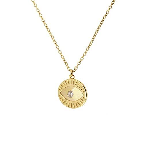 HUREWQ Collar Collar de Gargantilla con Colgante de Abeja y Serpiente de Luna Personalizada para Mujer, Collar de Cadena de clavícula con Encanto de Hija de Amantes