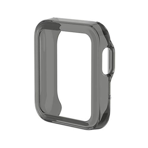 KERDEJAR Estuche Protector, Estuche de Reloj de TPU ultradelgado Carcasa Protectora de Piel Carcasa para -Xiaomi Mi Watch Lite Versión Global para Accesorios de Reloj Redmi Negro
