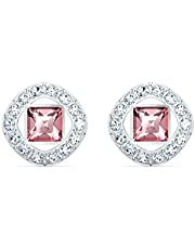 Swarovski Women's Angelic Square Earrings, Brilliant Crystals, from the Amazon Exclusive Swarovski Angelic Square Collection